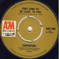 Carpenters ‎– They Long To Be Close To You